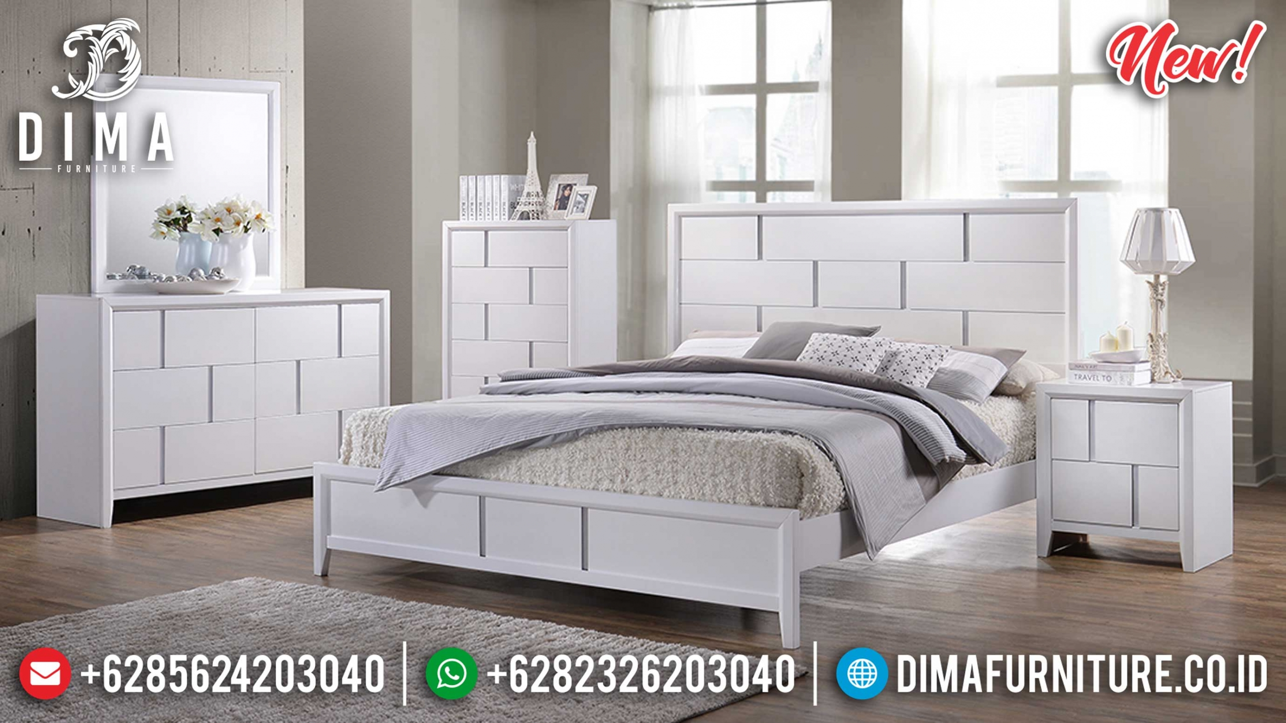 New Tempat Tidur Minimalis Puzzle Design Modern Luxury Jepara BT-0921