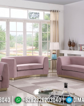 Pinky Loveseat Sofa Tamu Minimalis Glamour Design New Years Update BT-0909
