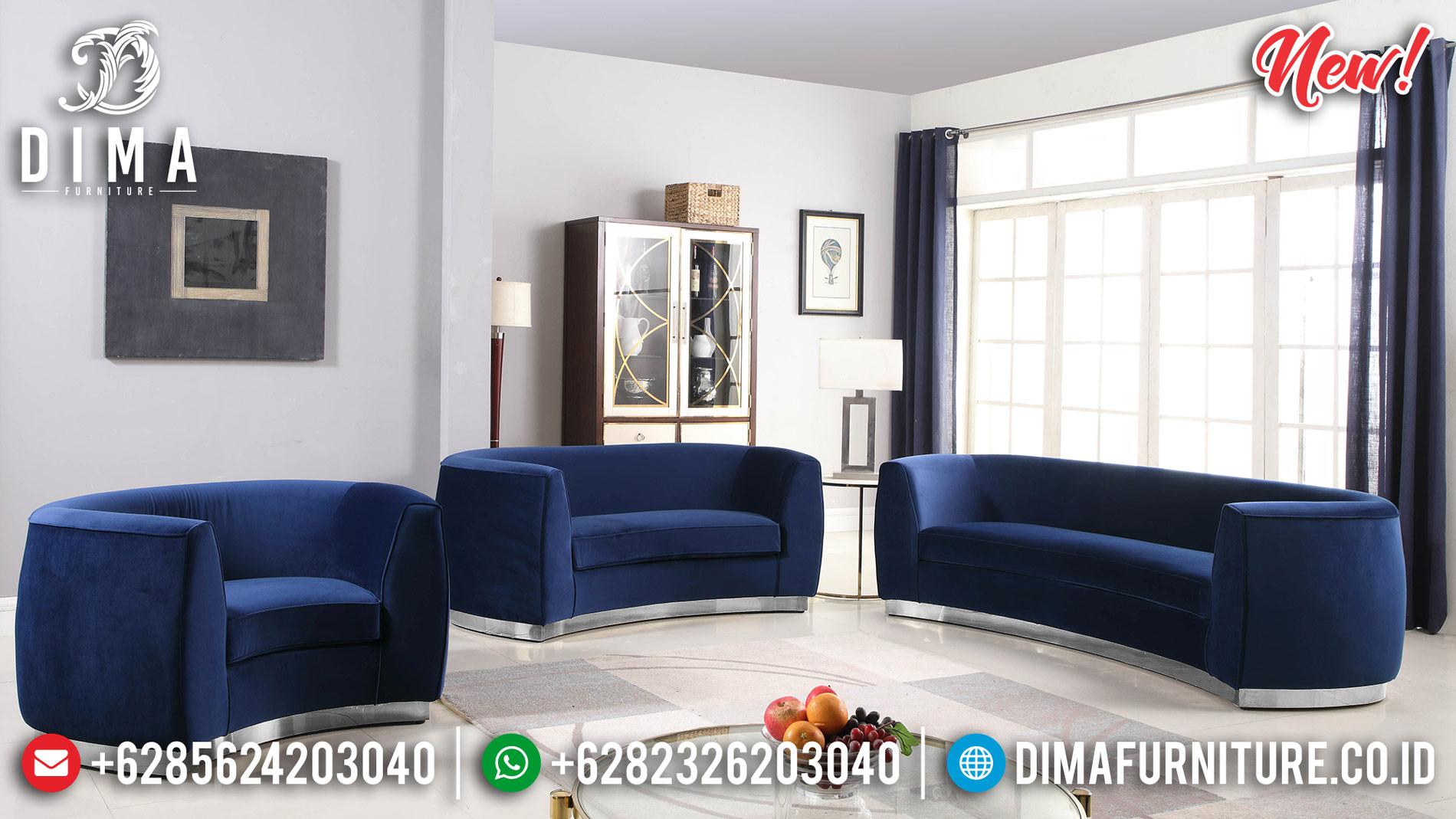Sofa Tamu Minimalis Stainless Steel New Design Luxury Living Room BT-0913
