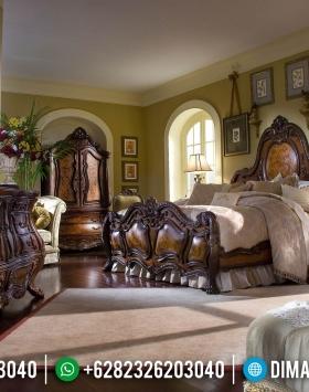 Tempat Tidur Kayu Jati Mewah Luxury Carving Beautiful Design Inspiring BT-0890
