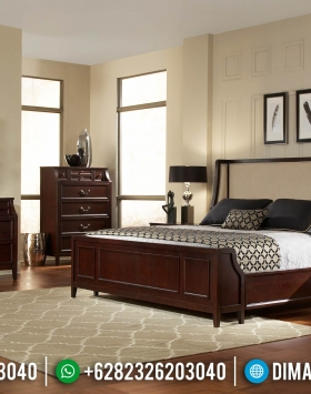 Tempat Tidur Minimalis Jati Natural Dark Brown Best Item Seller BT-0891