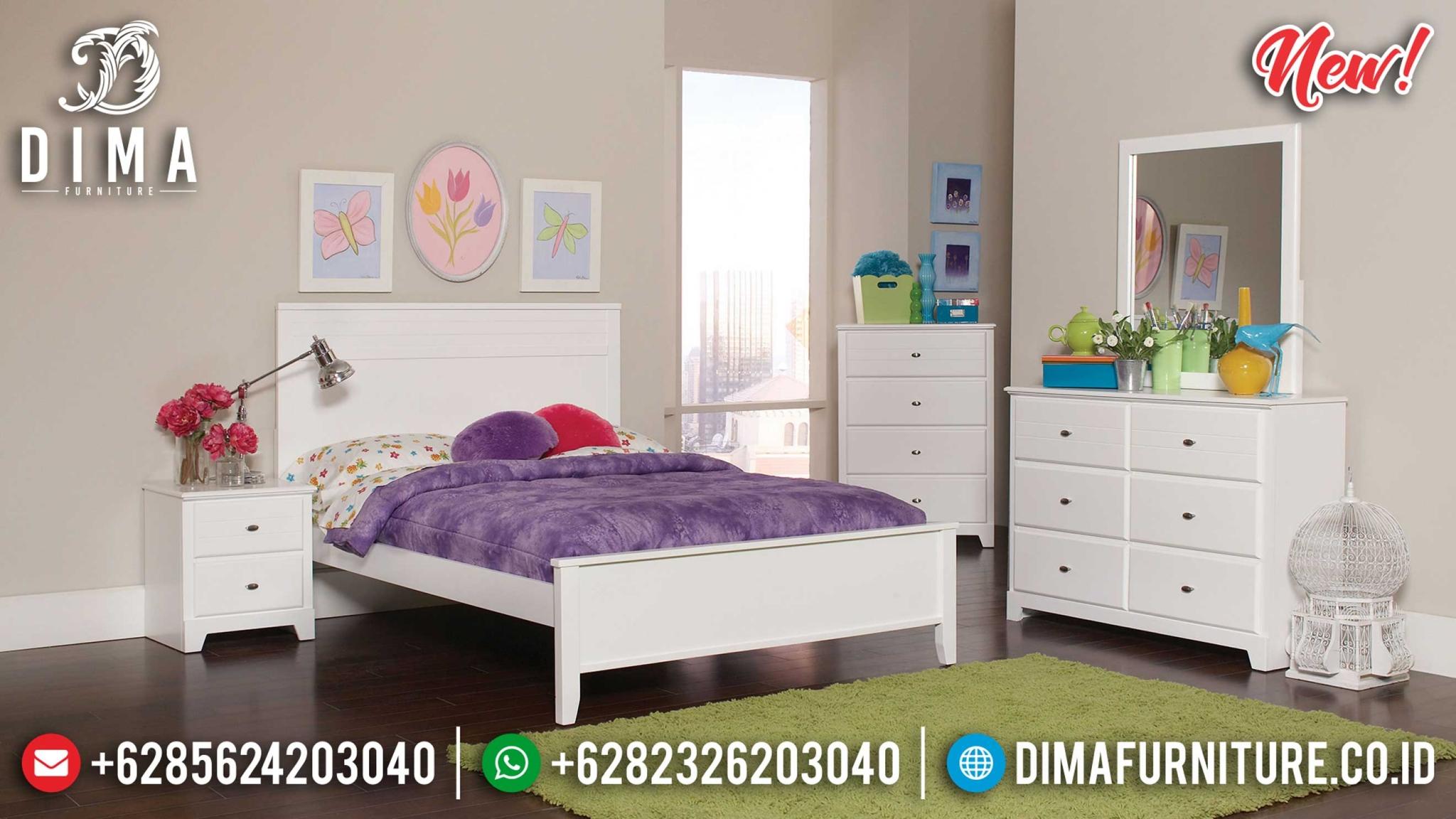Tempat Tidur Minimalis Simple Design Art Deco White New Year Update BT-0929