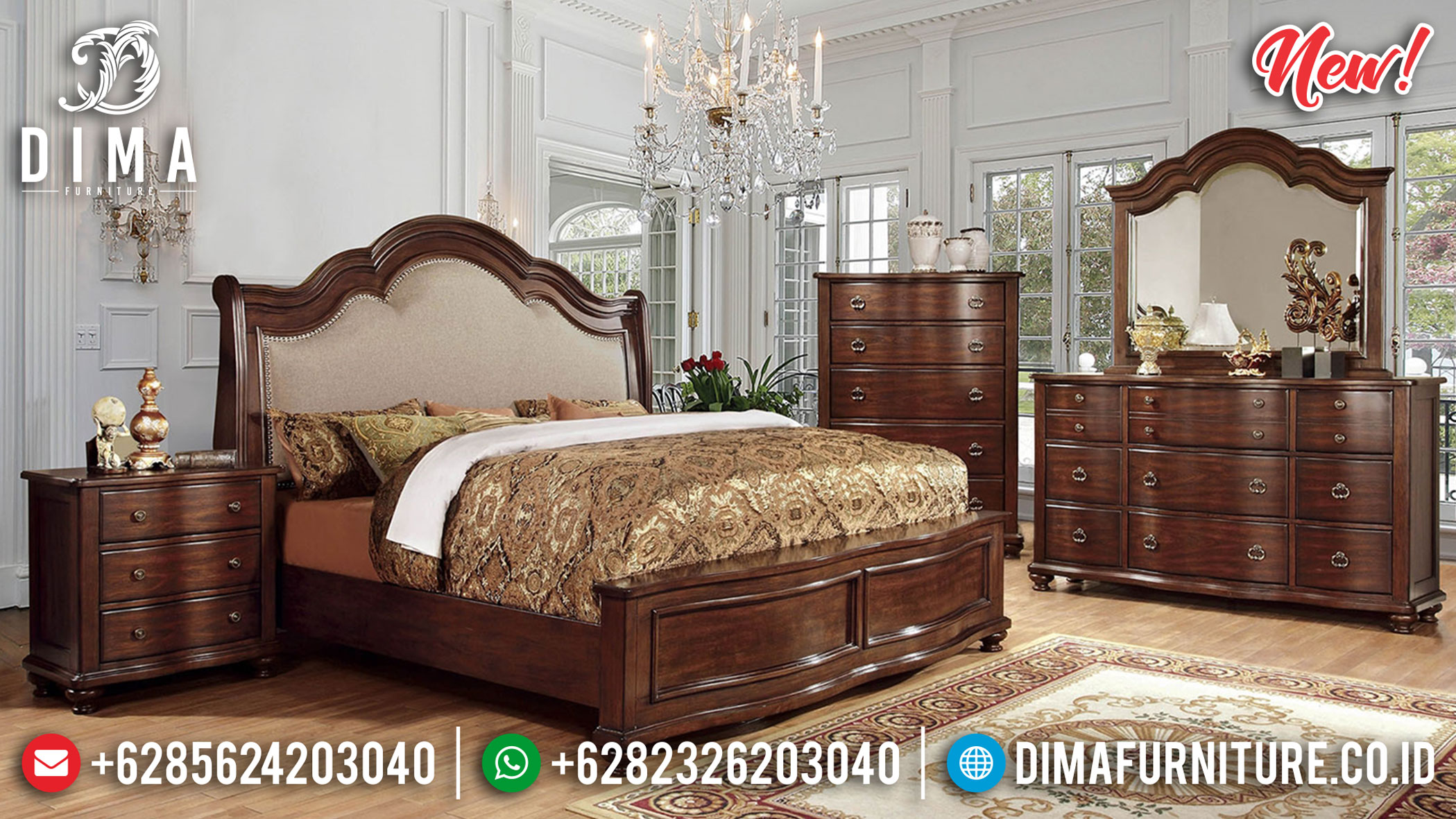 Terlaris Tempat Tidur Minimalis Natural Jati Best Seller Mebel Jepara BT-0906