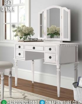 Jual Meja Rias Minimalis Putih Furniture Jepara Release 2021 New Design BT-0942
