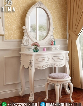 Meja Rias Minimalis Iris Luxury White Duco Color Furniture Jepara Update BT-0941