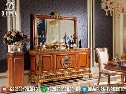 Best Meja Konsul Mewah Jepara Elegant Design Natural Jati Kombinasi BT-0982