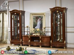 Best Sale Bufet TV Jati Natural Combination Luxury Color Furniture Jepara BT-0962