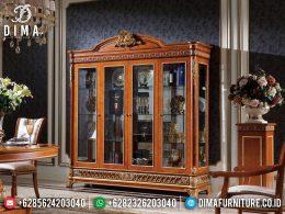 Big Sale Lemari Hias Mewah Terbaru Natural Jati Luxury Classic BT-0977