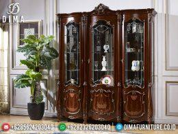Clement Style Lemari Hias Mewah Ukir Jepara Elegant Natural Combine Color BT-0978