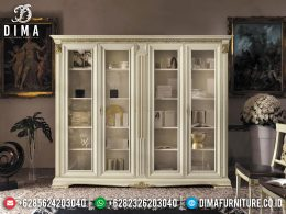 Elegant Model Lemari Hias Mewah Putih Duco Luxury Classic Jepara BT-0980