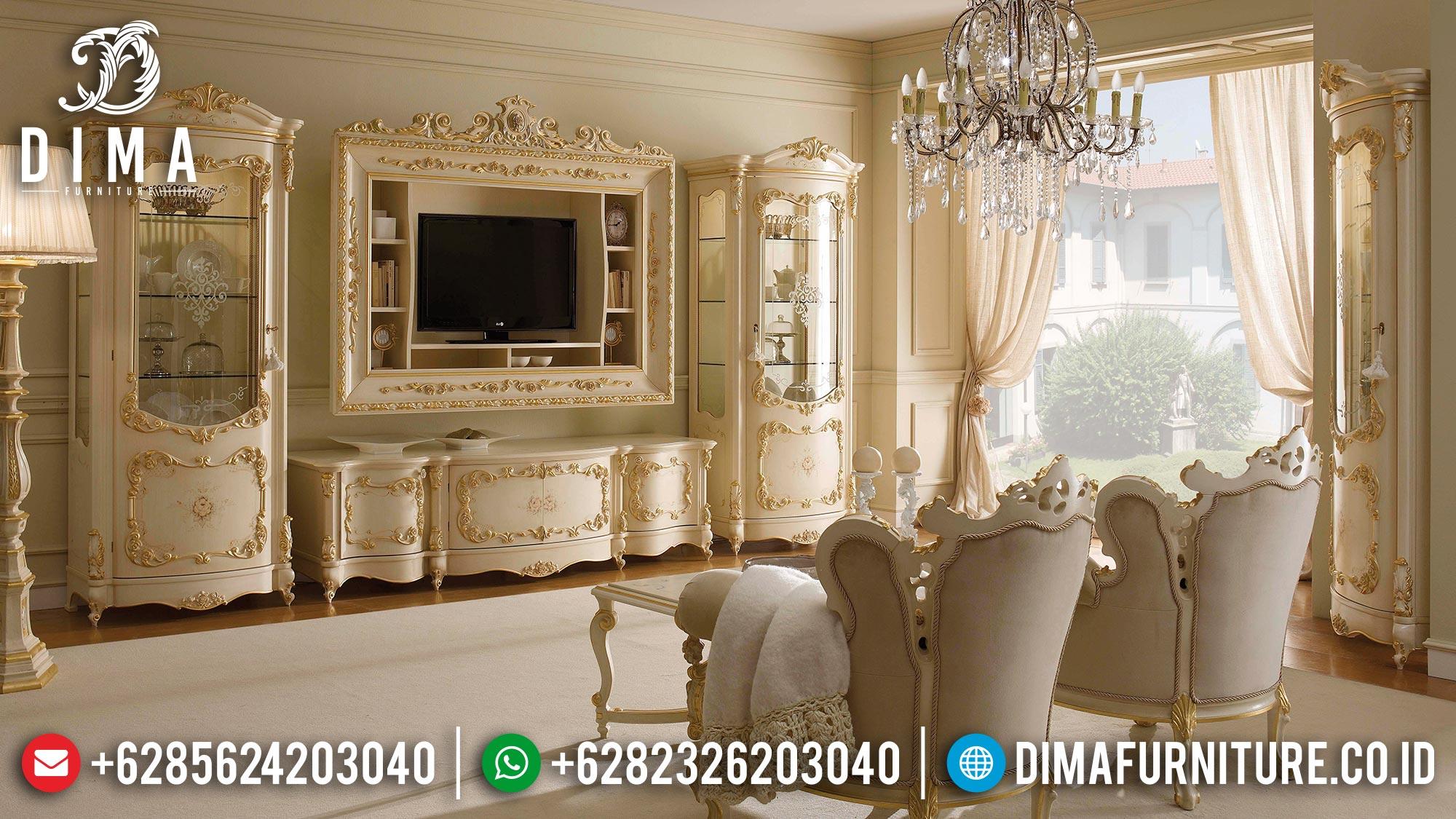 Great Desain Meja TV Mewah Set Bufet TV Ukir Luxurious Classic BT-0986