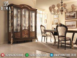 Harga Lemari Hias Mewah Jati Jepara Natural Luxury Classic Carving BT-0976