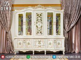 Lemari Hias Mewah Jepara Luxury Carving Best Seller Furniture BT-0975