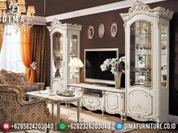 Lemari Hias Mewah Set Bufet TV Ukir Jepara Luxury Elegant Style BT-0972