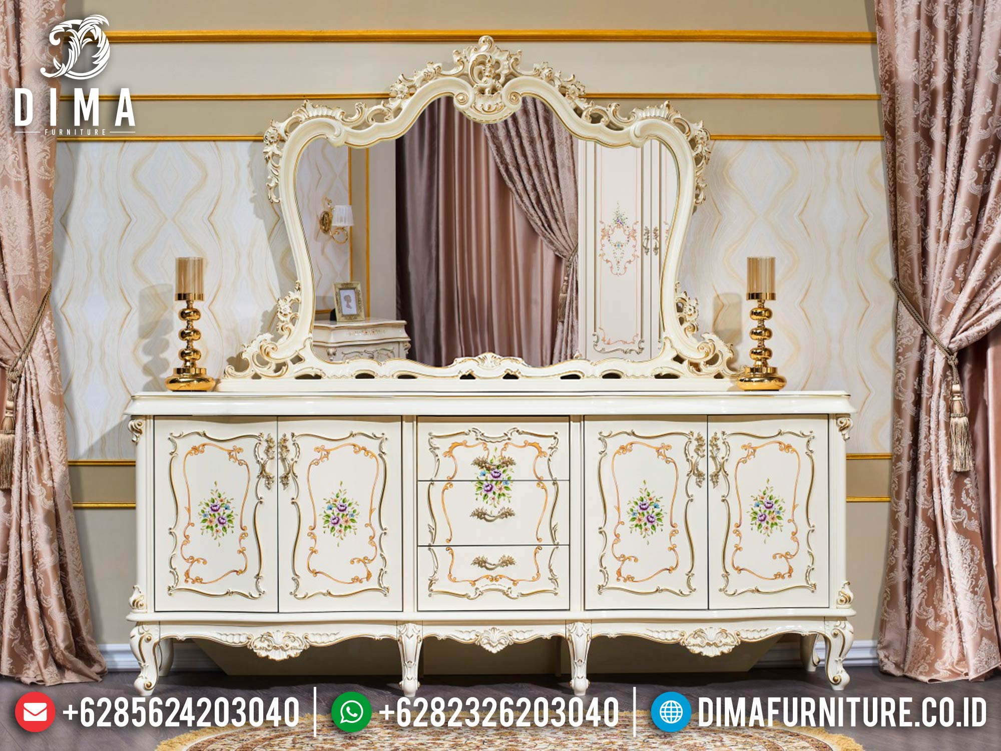 Meja Konsul Mewah Terbaru Ukiran Jepara Luxury Carving High Quality BT-0967
