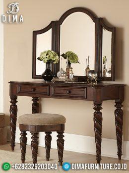 Meja Rias Jati Natural Luxury Design Furniture Jepara Terbaru BT-0989