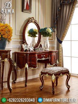 Meja Rias Mewah Jepara Luxury Natural Jati Classic BT-0951