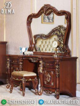 New Meja Rias Mewah Jati Natural Luxury Carving Furniture Jepara BT-0954