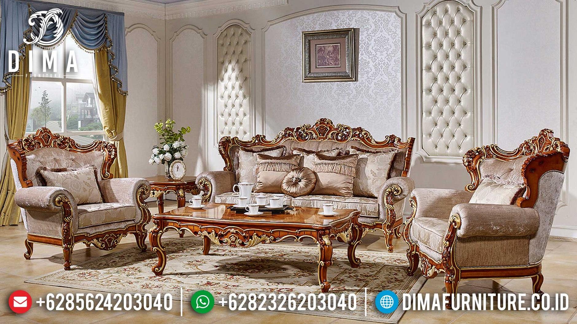 New Sofa Tamu Mewah Jati Natural Classic Luxury Carving BT-1014