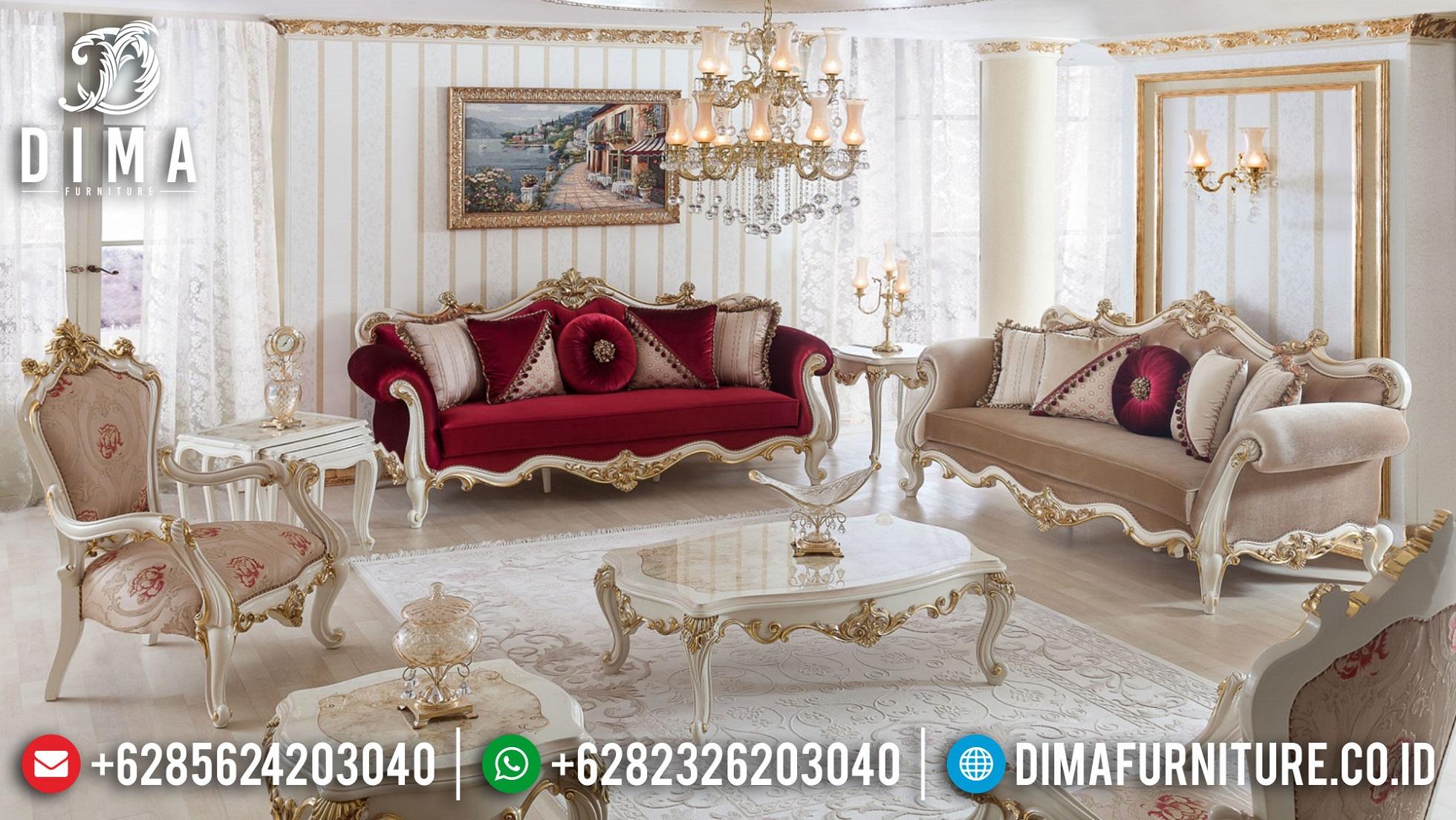 New Style Sofa Ruang Tamu Mewah Luxury Carving Jepara BT-1018