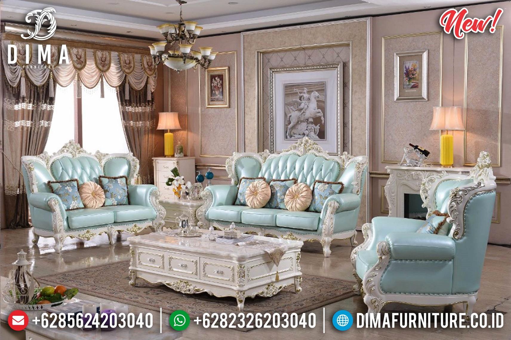 Sofa Ruang Tamu Mewah Jepara Luxury New Art Duco White Glossy BT-1007