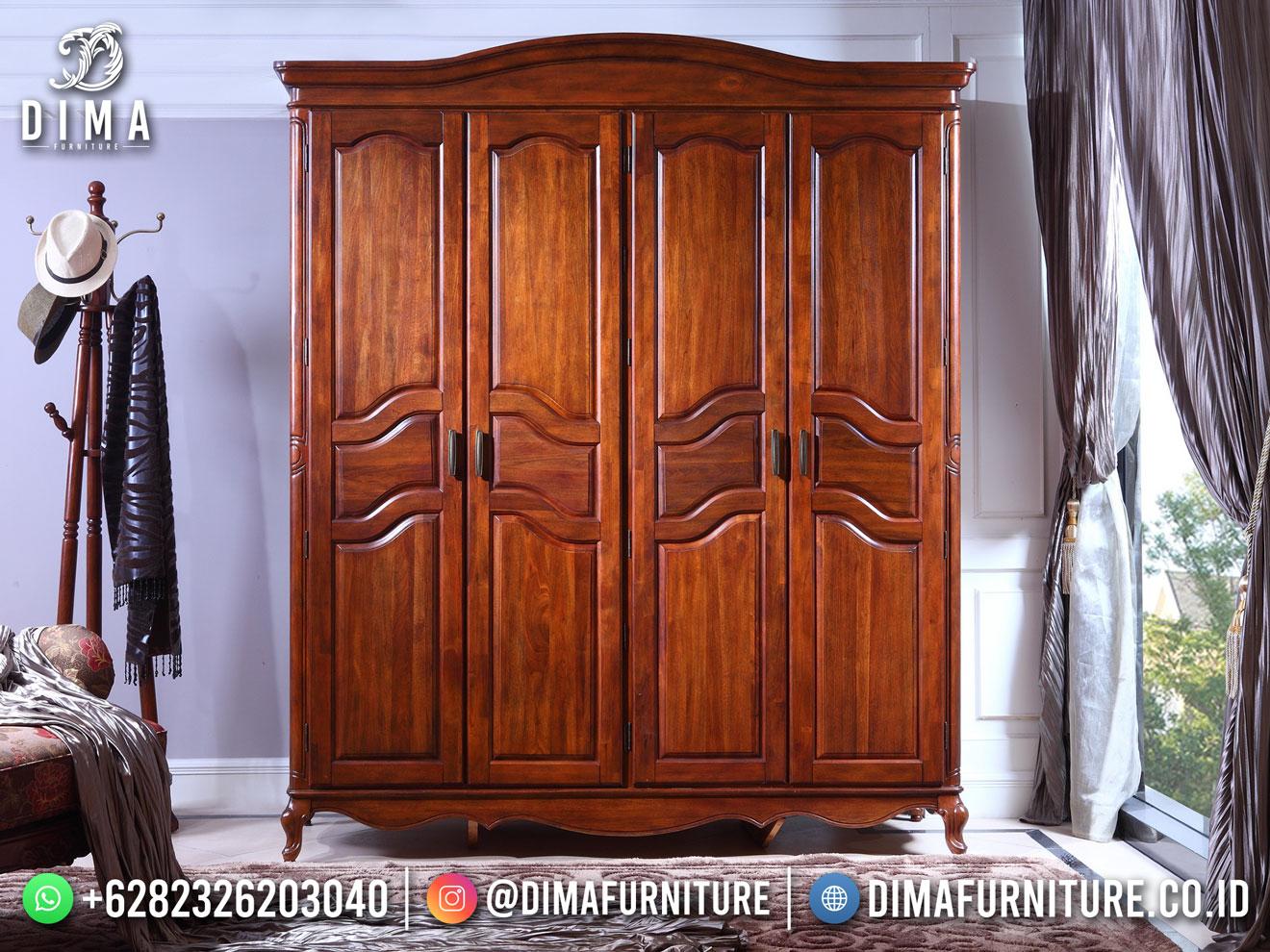 Best Price Lemari Pakaian Minimalis Jepara 4 Pintu Natural Color BT-1179