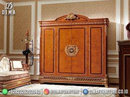 Best Seller Desain Lemari Pakaian Mewah Jepara Classic Style BT-1174