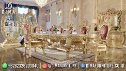 Best Seller Desain Meja Makan Mewah Jepara Golden Royal Luxury BT-1025