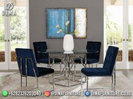 Best Seller Desain Meja Makan Minimalis Jepara Elegant Style Metal Frame BT-1118