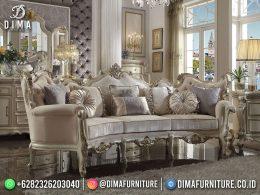Best Seller Desain Sofa Tamu Mewah Jepara Classic Italian Style Cream Color BT-1102