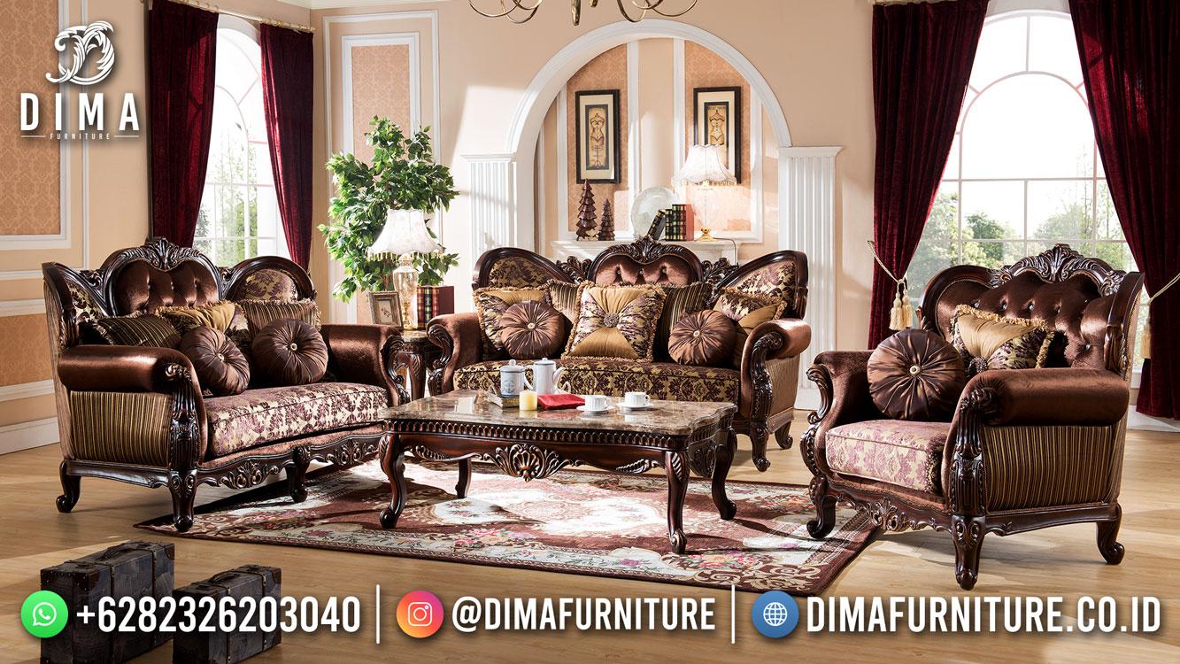 Best Seller Desain Sofa Tamu Mewah Jepara Classic Style Natural Color BT-1024