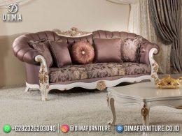 Best Seller Desain Sofa Tamu Mewah Jepara Gingerbread Brown Color Combination BT-1099