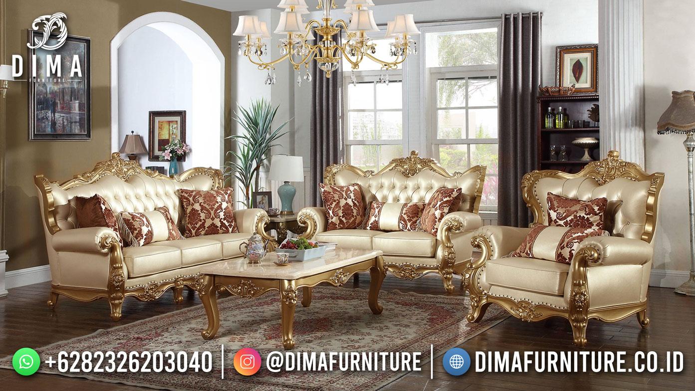 Best Seller Desain Sofa Tamu Mewah Jepara Golden Carving BT-1032