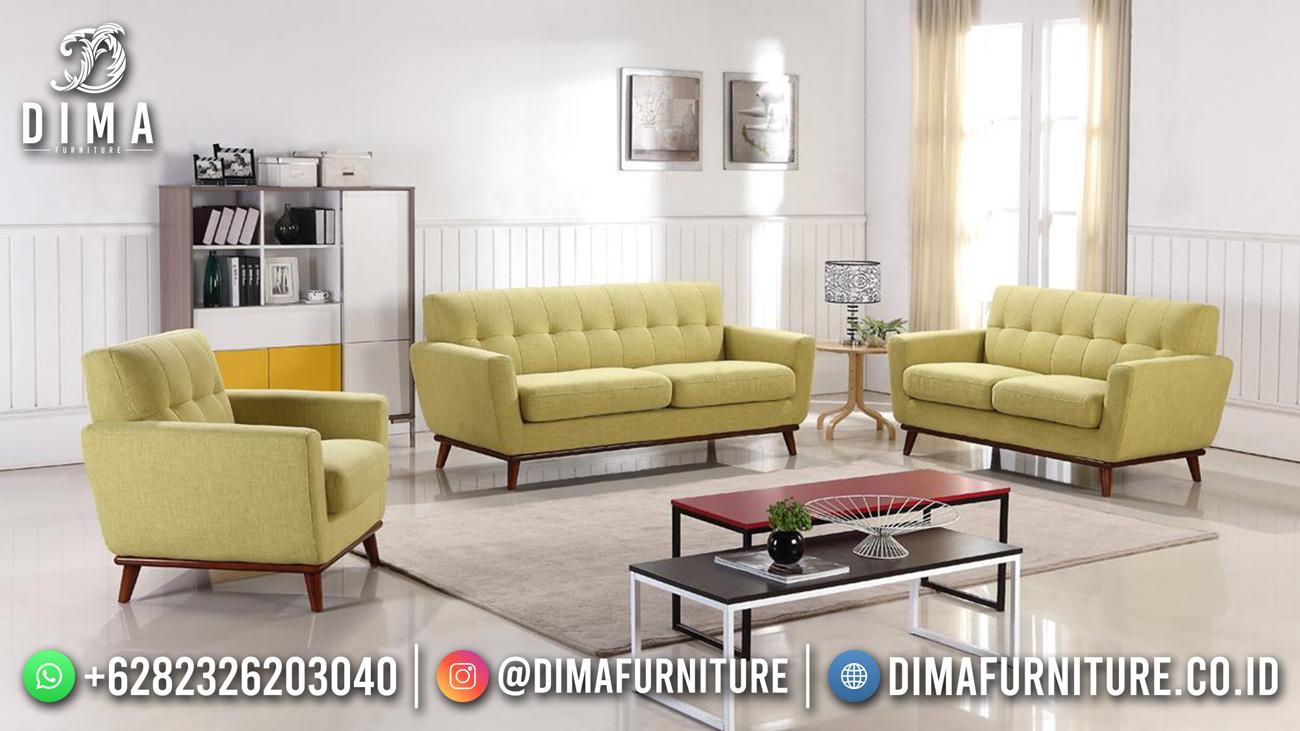 Best Seller Desain Sofa Tamu Minimalis 321 Jepara Retro Classic Corn Yellow BT-1059