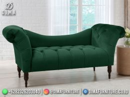 Best Seller Desain Sofa Tamu Minimalis Jepara Camel Back Pine Green BT-1105