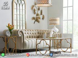 Best Seller Desain Sofa Tamu Minimalis Jepara Chesterfield Velvet Fabric BT-1130