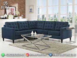 Best Seller Desain Sofa Tamu Minimalis Jepara Elegant Style Aegean Blue BT-1054