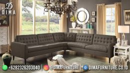 Best Seller Desain Sofa Tamu Minimalis Jepara Elegant Style Mocha Brown BT-1049