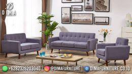 Best Seller Desain Sofa Tamu Minimalis Jepara Elegant Style Periwinkle Purple BT-1052