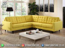 Best Seller Desain Sofa Tamu Minimalis Jepara Elegant Style Pineapple Yellow BT-1051