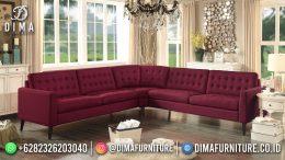 Best Seller Desain Sofa Tamu Minimalis Jepara Elegant Style Scarlet Red BT-1047