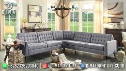 Best Seller Desain Sofa Tamu Minimalis Jepara Elegant Style Steel Gray BT-1050