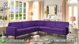 Best Seller Desain Sofa Tamu Minimalis Jepara Elegant Style Violet Purple BT-1048