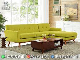 Best Seller Desain Sofa Tamu Minimalis Jepara Sectional Corn Yellow BT-1104