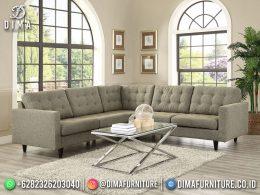 Best Seller Desain Sofa Tamu Minimalis L Jepara Living Room Artichoke Green Color BT-1062