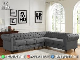 Best Seller Desain Sofa Tamu Minimalis L Jepara Living Room Duco Iron Gray BT-1061