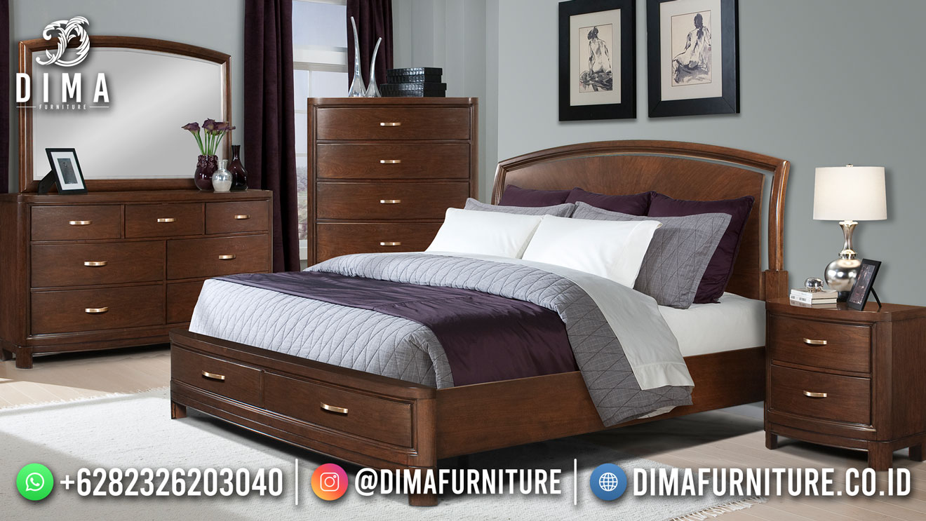 Best Seller Desain Tempat Tidur Klasik Jepara Teak Wood BT-1157