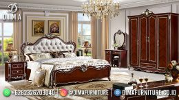 Best Seller Desain Tempat Tidur Mewah Jepara Classic Style Combination Color BT-1155