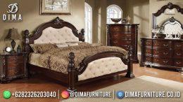 Best Seller Desain Tempat Tidur Mewah Jepara Classic Style Natural Color BT-1142