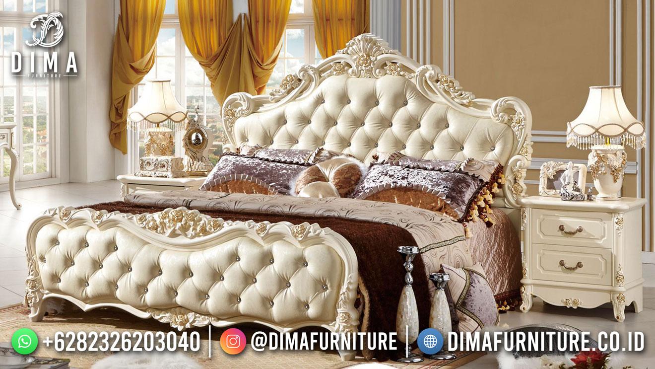 Best Seller Desain Tempat Tidur Mewah Jepara Excellent material BT-1153